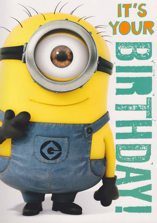 Despicable Me 2 - Minion Birthday Card