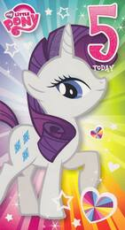 My Little Pony - Age 5 Birthday Card - 5th