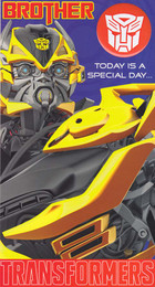 Transformers 4 - Brother's Birthday Card