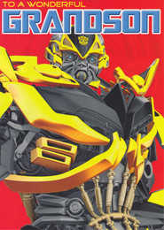 Transformers 4 - Grandson Birthday Card