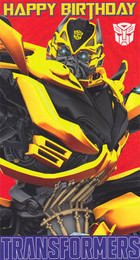 Transformers 4 Age Of Extinction - Bumblebee Birthday Card