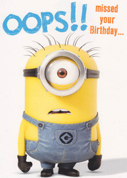 Despicable Me - Belated Birthday Card