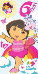 Dora The Explorer Age 6 Birthday Card