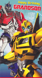 Transformers Prime - Grandson's Birthday Card