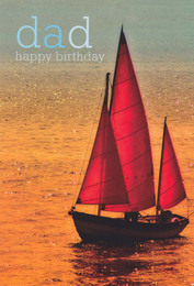 Dad's Birthday Card - Sailing Boat