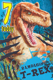 Dinosaur - 7th Birthday Card