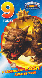 Skylanders - 9th Birthday Card
