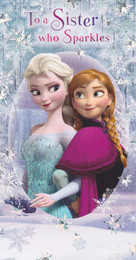 Disney Frozen - Sister Birthday Card