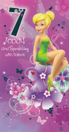 Tinker Bell - Age 7 Birthday Card