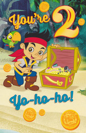 Jake And The Never Land Pirates - Age 2 Birthday Card