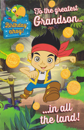 Jake And The Never Land Pirates - Grandson's Birthday Card