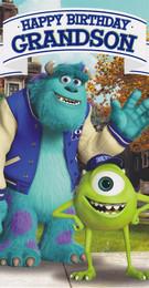 Monsters University - Grandson's Birthday Card