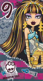 Monster High - 9th Birthday Card