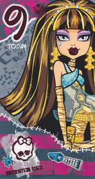 Monster High - 9th Birthday Card