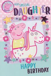 Peppa Pig - Daughter's Birthday Card
