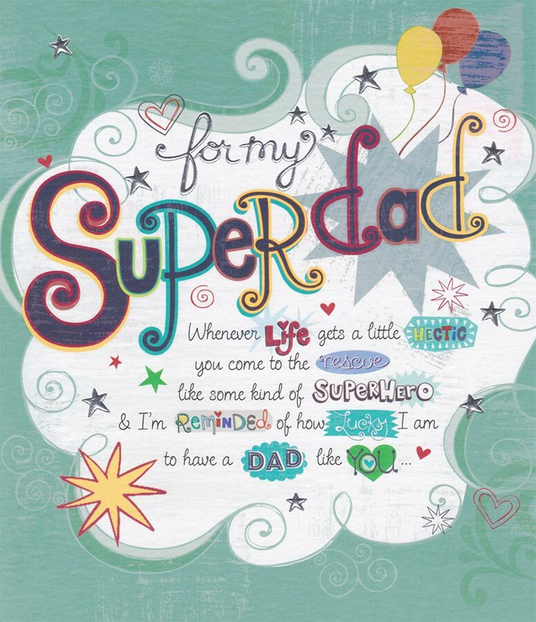 Carlton Cards Super Dad Birthday Card Cardspark
