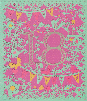 Age 18 Birthday Card - Entwined