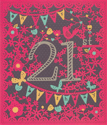 Age 21 Birthday Card - Entwined
