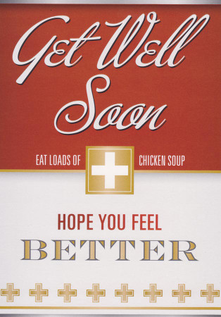 Get Well Soon Card - Chicken Soup