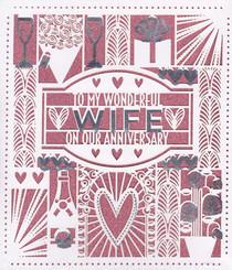 Wife Anniversary Card - Carlton Cards