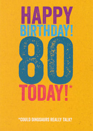 80th Funny Birthday Card