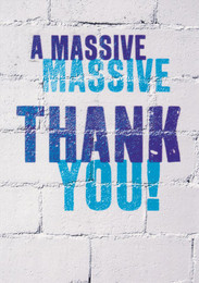 Massive Thank You Greeting Card - Word Up!