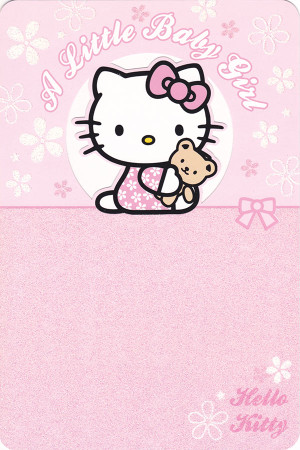 Hello Kitty Pink Baby Girl Card