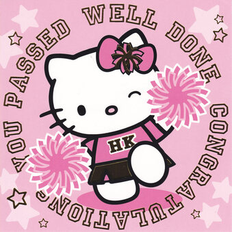 Hello Kitty Congratulation You Passed Card
