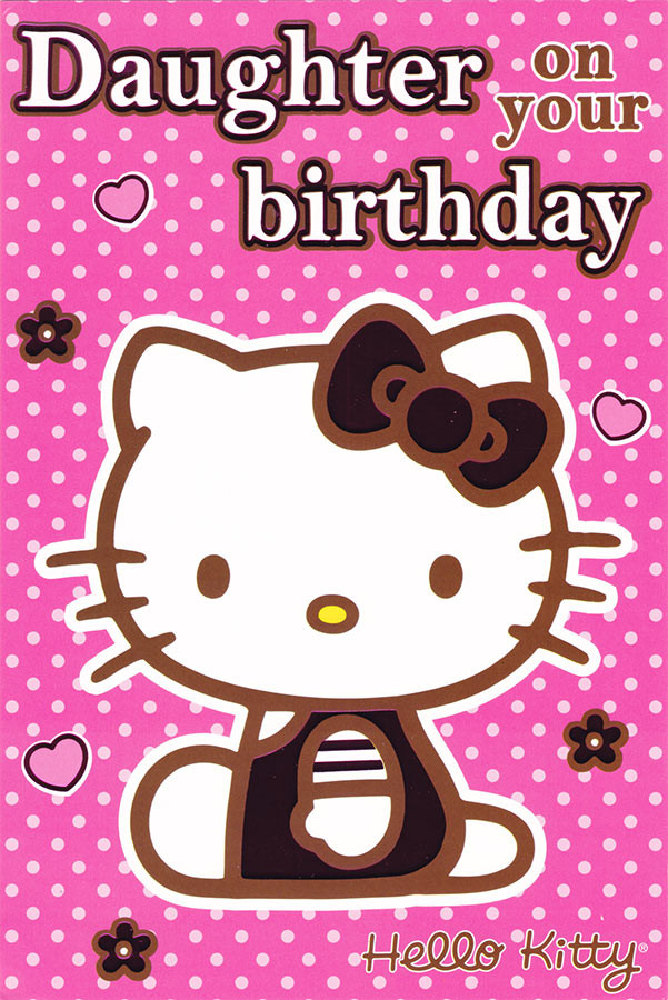 d48ab3541 Hello Kitty Daughter Birthday Card [Classic]. Loading zoom