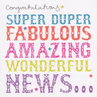 Congratulations Card - Super Duper