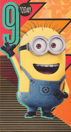 Despicable Me 9th Birthday Card