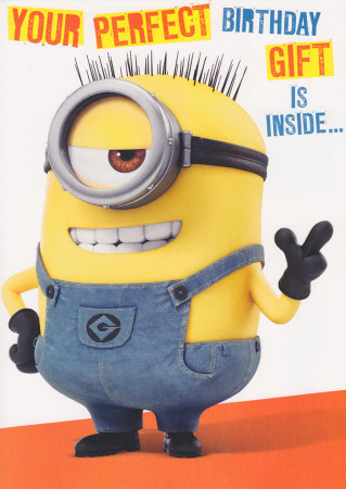 Despicable Me - Birthday Card - 3D