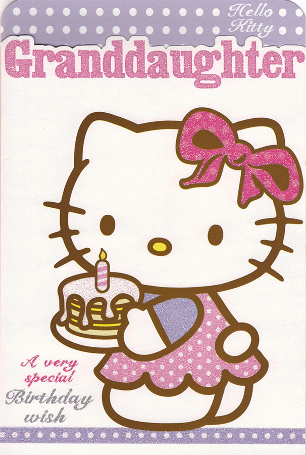 8da6c8946 Hello Kitty Granddaughter Birthday Card. Loading zoom