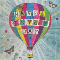 Hot Air Balloon Greeting Card - Lucy Joy