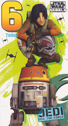 Star Wars Rebels - 6th Birthday Card