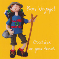 Good Luck On Your Travels Greeting Card - One Lump Or Two