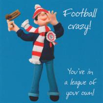 Football Crazy Birthday Card - One Lump