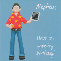 Nephew Birthday Card - One Lump