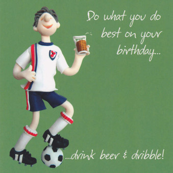 Football Birthday Card - One Lump Or Two