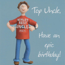 Uncle Birthday Card - One Lump