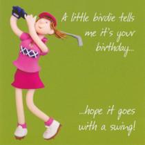 Golf Female Birthday Card