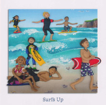 Surfing Greeting Card - Full Montage