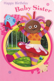 In The Night Garden Baby Sister Birthday Card