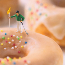 Doughnut Golfer Greeting Card