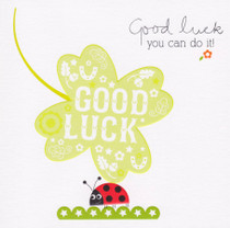 Good Luck Clover Greeting Card