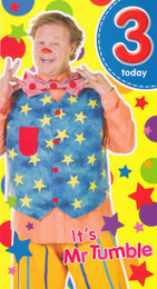 Mr Tumble Something Special Age 3 Birthday Card