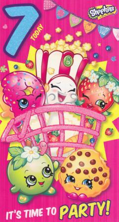 Shopkins - Age 7 Birthday Card