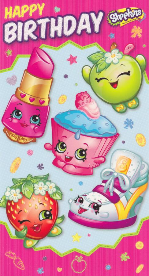 Ridiculous image inside shopkins birthday card printable