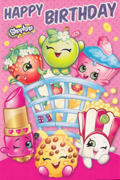 Shopkins - Happy Birthday Card