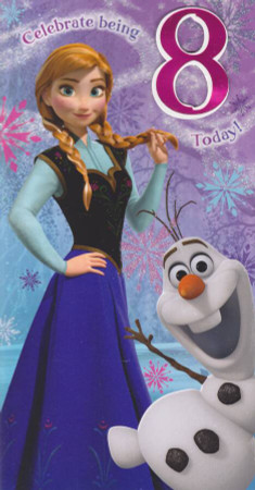Disney Frozen - Age 8 Birthday Card